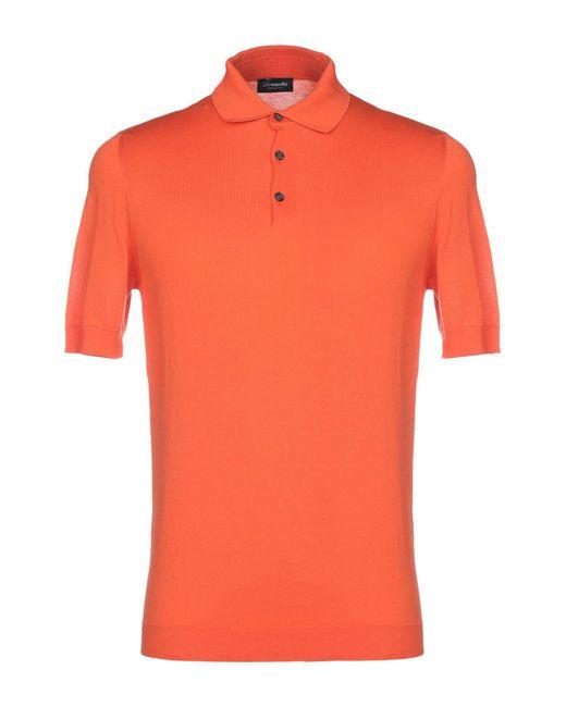 Drumohr Orange Jumper for men