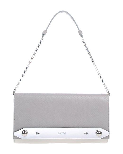 Pollini - Gray Handbags - Lyst
