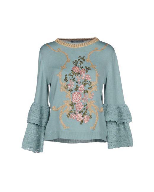Alberta Ferretti - Green Sweaters - Lyst