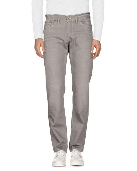 BOSS Orange - Gray Denim Pants for Men - Lyst