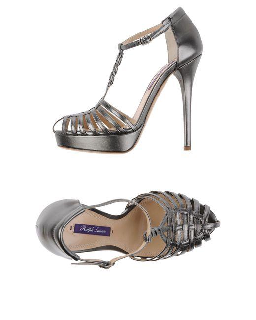 Ralph Lauren - Gray Sandals - Lyst