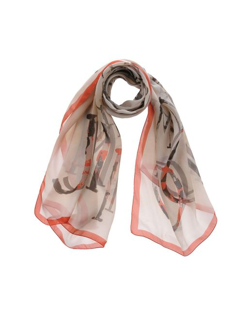 Jimmy Choo - Orange Scarf - Lyst