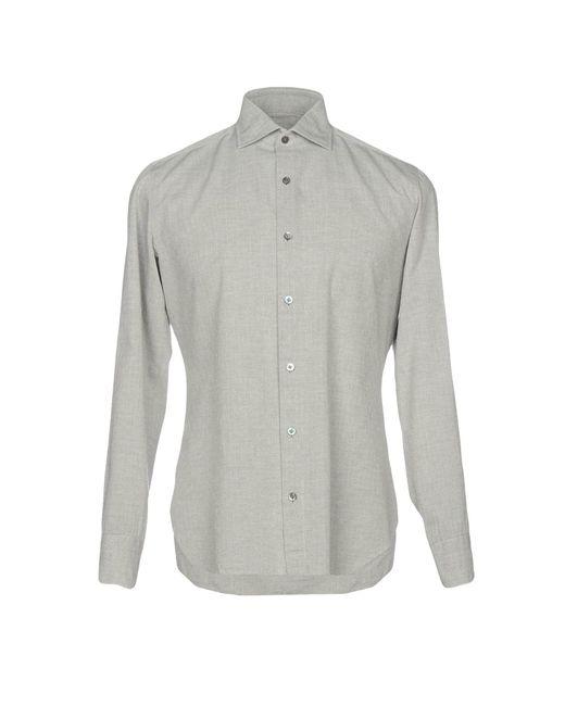 Drumohr - Gray Shirt for Men - Lyst