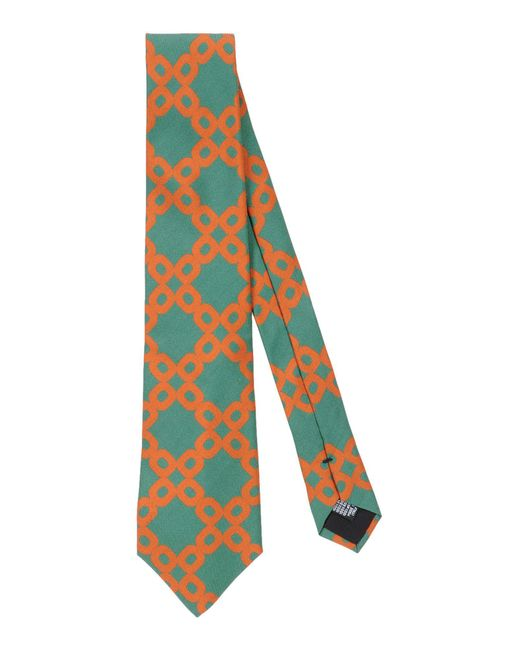 Mp Massimo Piombo - Green Tie for Men - Lyst