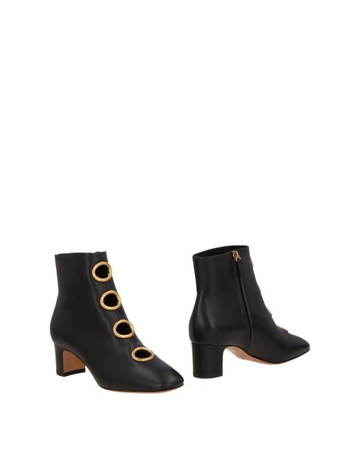 Valentino - Black Ankle Boots - Lyst