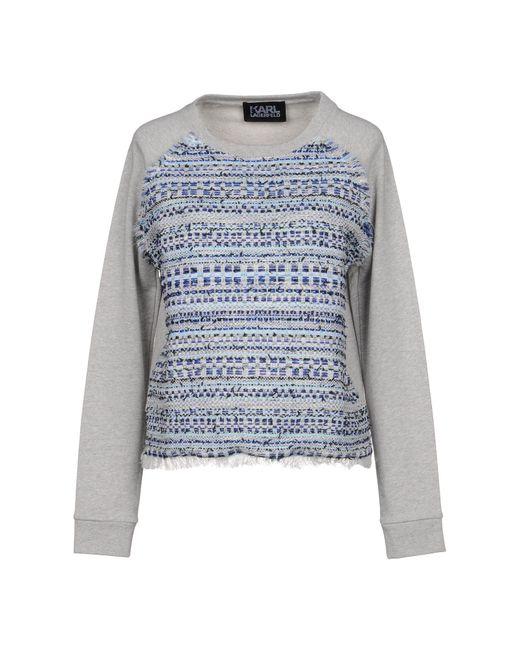 Karl Lagerfeld - Gray Sweatshirts - Lyst