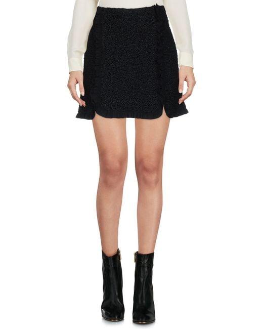 Philosophy Di Lorenzo Serafini - Black Mini Skirt - Lyst