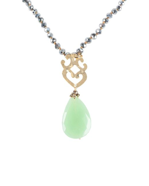 Almala - Green Necklace - Lyst
