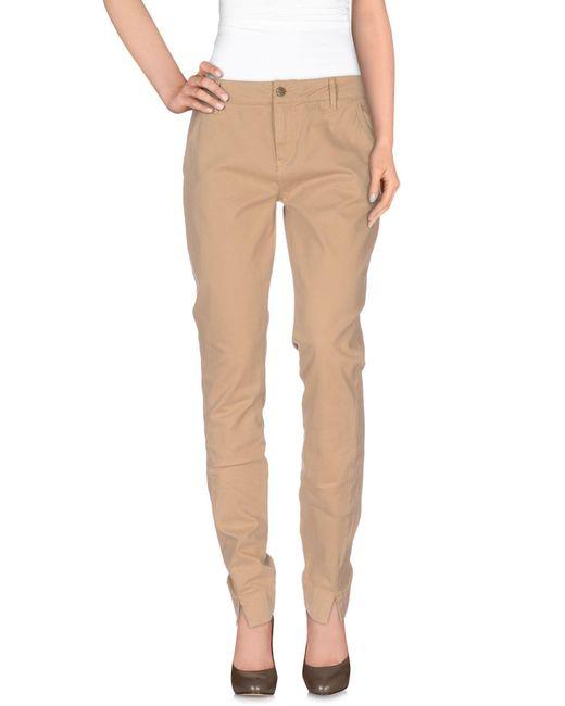 Manila Grace - Brown Casual Pants - Lyst
