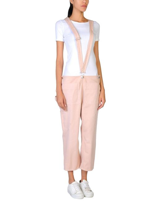 MM6 by Maison Martin Margiela - Pink Overalls - Lyst