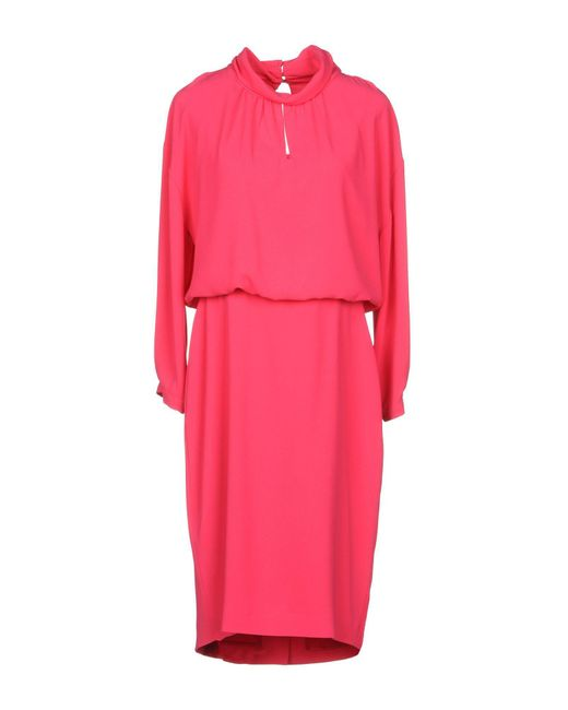 Boutique Moschino - Pink Knee-length Dress - Lyst