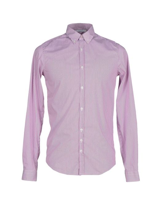 Aglini - Purple Shirt for Men - Lyst