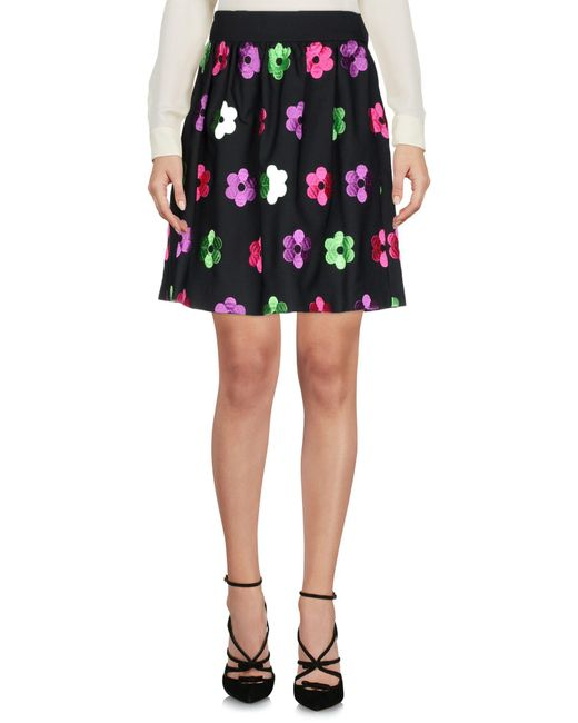 Boutique Moschino - Black Knee Length Skirt - Lyst