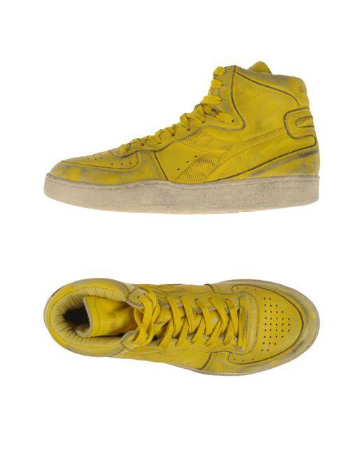 Diadora - Yellow High-tops & Sneakers for Men - Lyst
