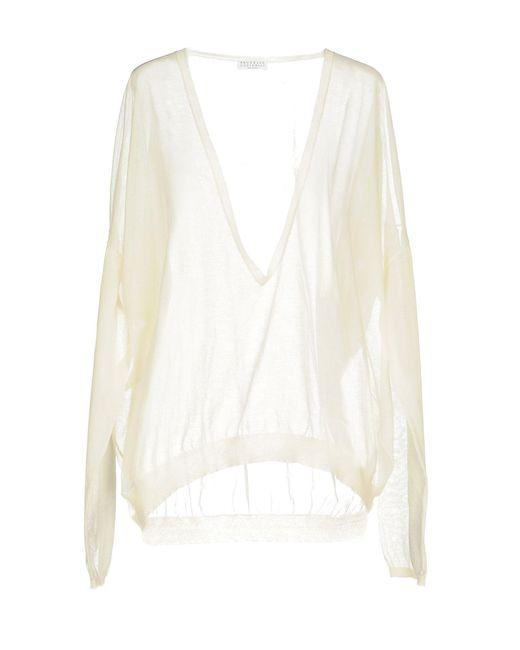 Brunello Cucinelli - White Sweater - Lyst