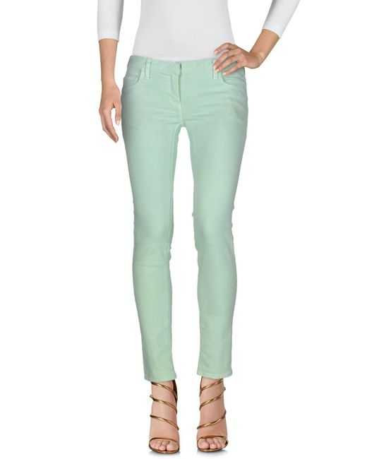 Balmain | Green Denim Pants | Lyst
