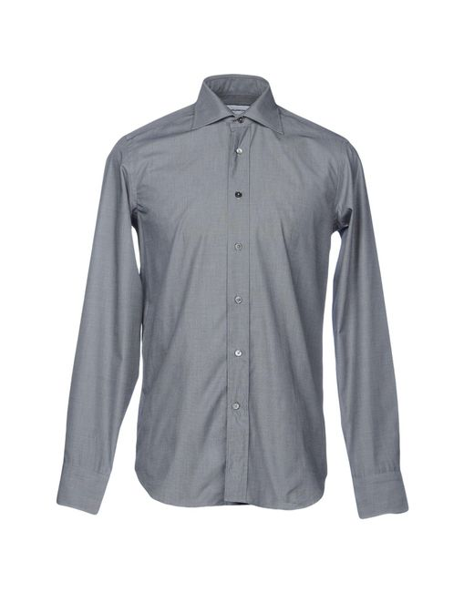 Mauro Grifoni - Gray Shirt for Men - Lyst