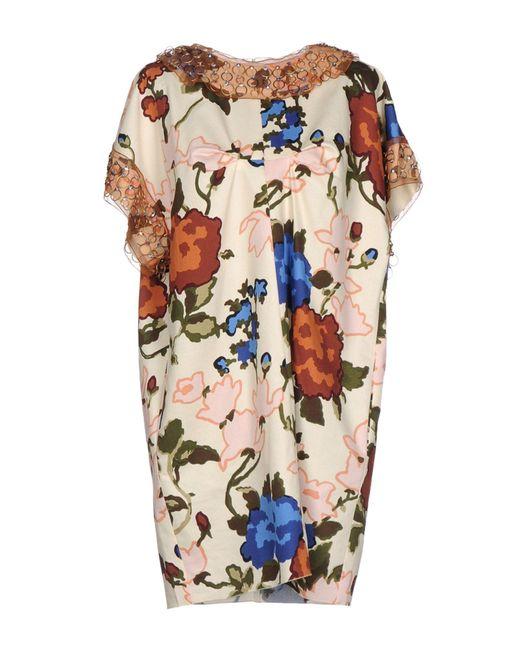 M Missoni - White Short Dress - Lyst