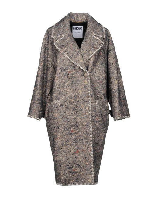 Moschino - Gray Coat - Lyst