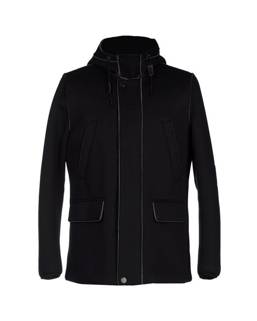 Paolo Pecora - Black Coat for Men - Lyst