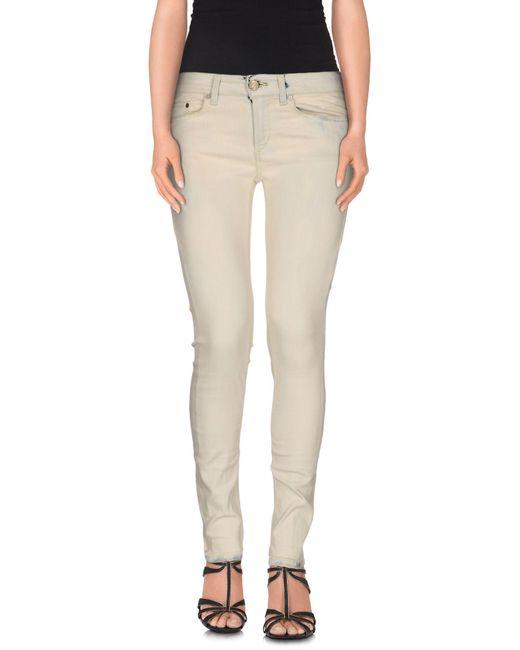 Dondup - Natural Denim Trousers - Lyst
