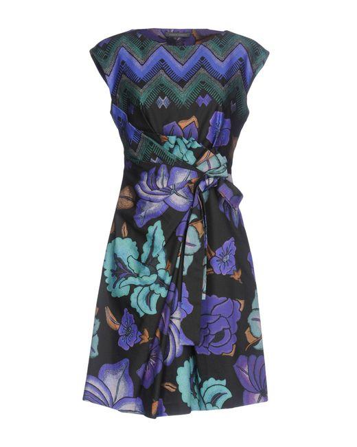 Alberta Ferretti - Purple Short Dress - Lyst