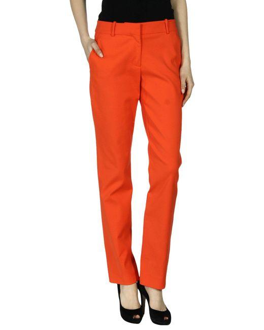 Cedric Charlier - Orange Casual Pants - Lyst