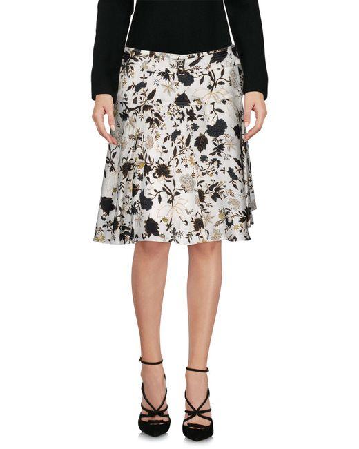 A.L.C. - White Knee Length Skirt - Lyst