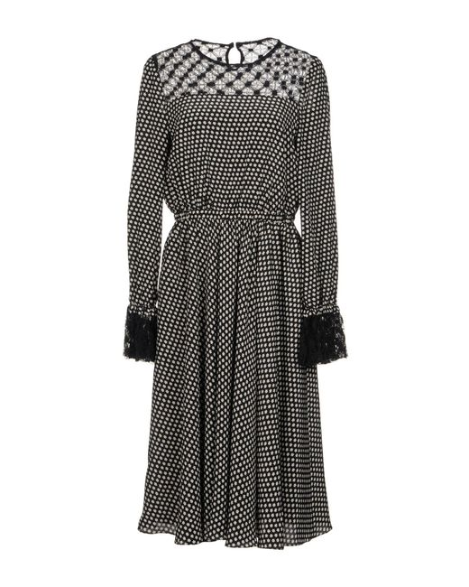 Philosophy Di Lorenzo Serafini - Black Knee-length Dress - Lyst