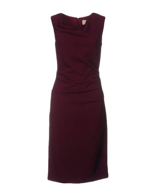 Nicole Miller Artelier | Purple Knee-length Dress | Lyst