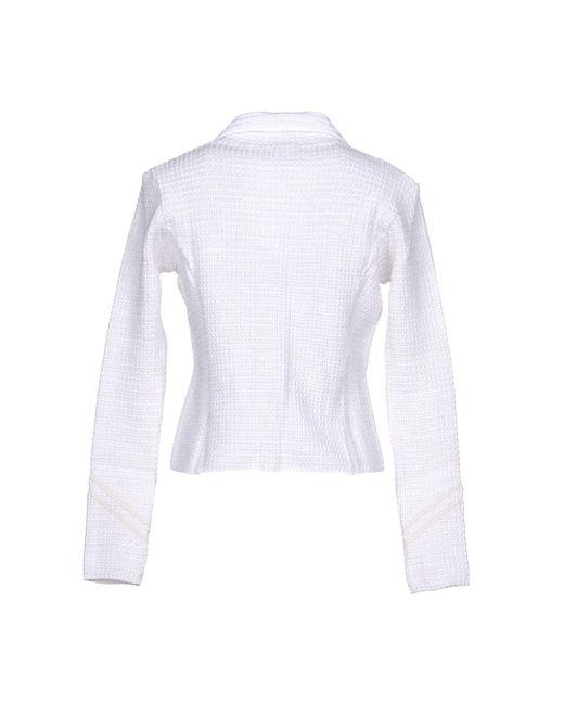 Scervino Ermanno Lyst Blanc Coloris En Veste ZTPOkiuX