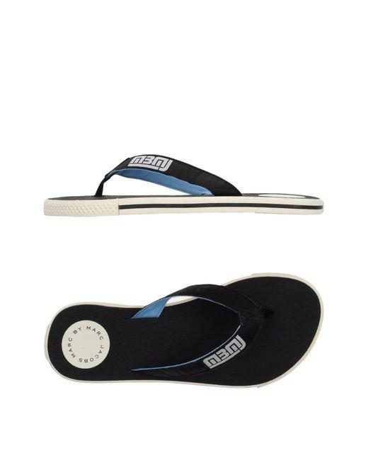 Marc By Marc Jacobs - Black Toe Post Sandal - Lyst