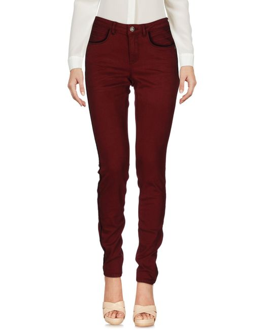Maison Scotch - Red Casual Trouser - Lyst