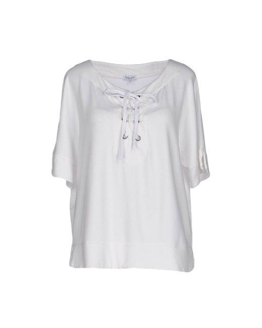 Splendid - White Sweatshirt - Lyst