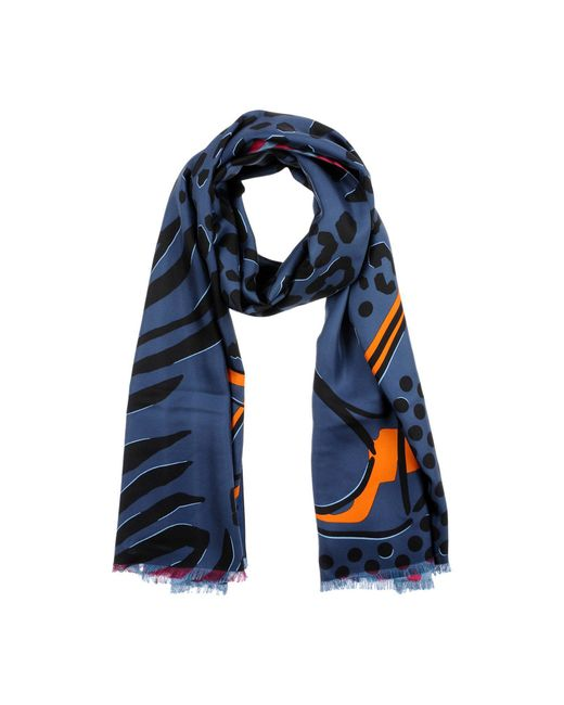 Jimmy Choo - Blue Scarf - Lyst