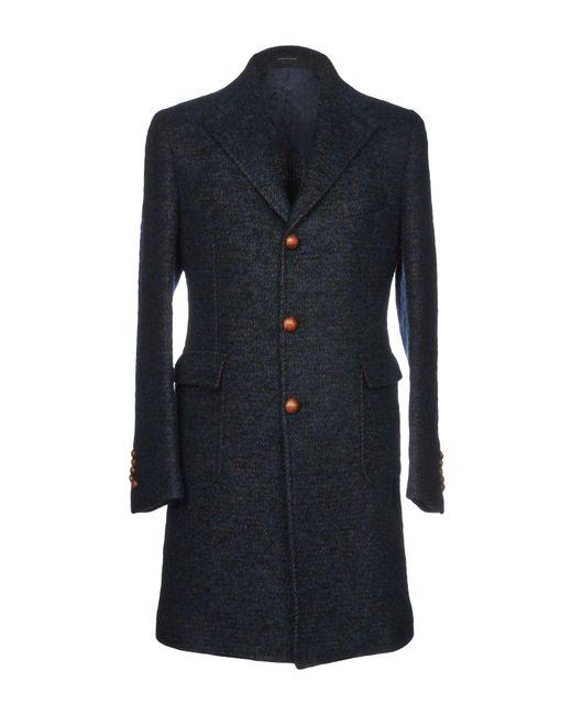 Tagliatore - Blue Coats for Men - Lyst