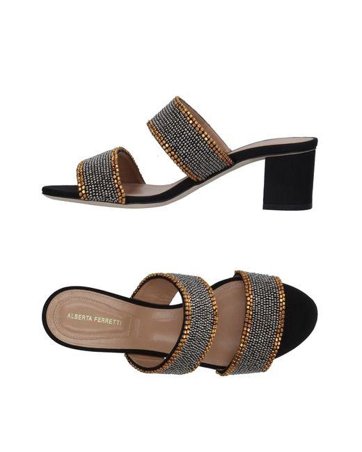 Alberta Ferretti - Metallic Sandals - Lyst