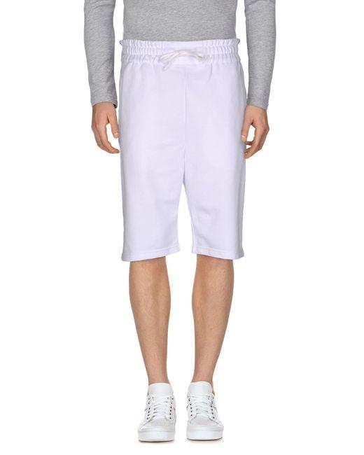 Bruno Bordese - White Bermuda Shorts for Men - Lyst