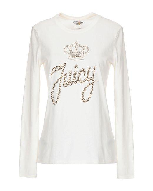 c5e508759b6e Juicy Couture - White T-shirt - Lyst ...
