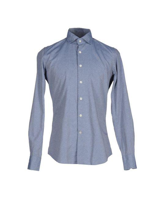 Glanshirt - Blue Shirts for Men - Lyst