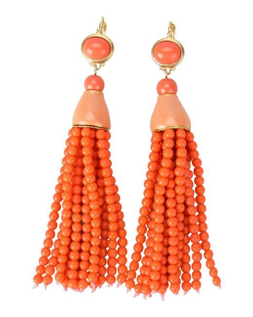 Kenneth Jay Lane - Orange Earrings - Lyst