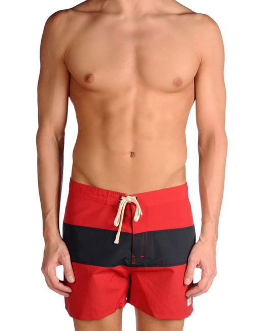 SATURDAYS NEW YORK CITY - Red Swim Trunks for Men - Lyst