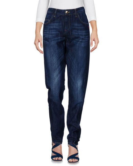 Scee By Twin-set - Blue Denim Pants - Lyst