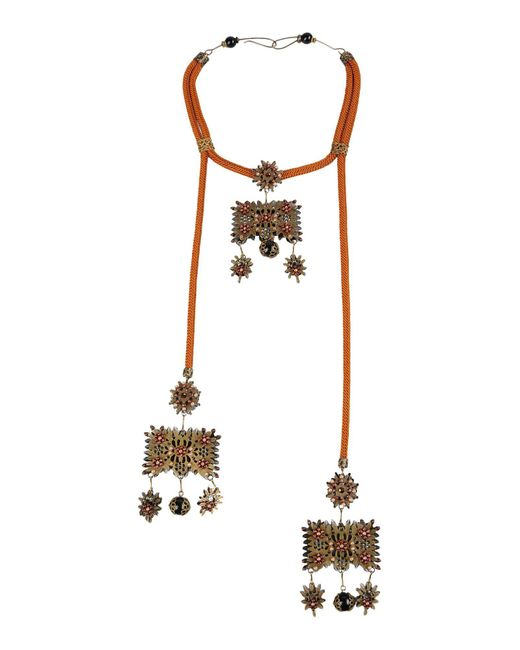 DSquared²   Brown Necklace   Lyst