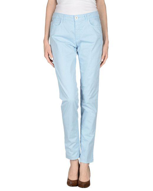 Tru Trussardi | Blue Casual Trouser | Lyst