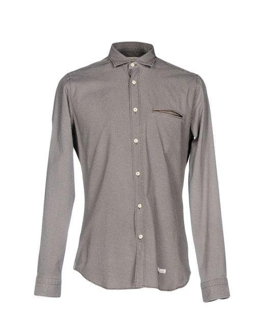 Tintoria Mattei 954 - Brown Shirts for Men - Lyst