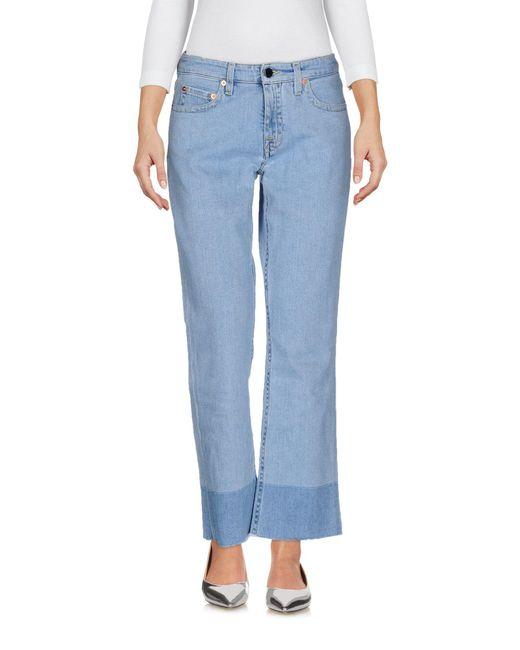 Victoria, Victoria Beckham - Blue Denim Pants - Lyst