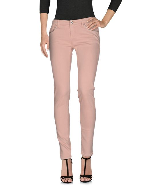 Armani Jeans | Pink Denim Pants | Lyst