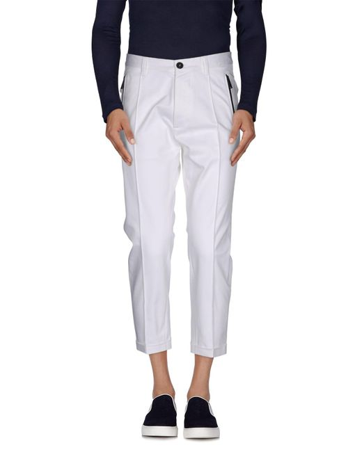 DSquared² - White 3/4-length Trousers for Men - Lyst