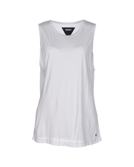 Meltin' Pot - White Tank Top - Lyst